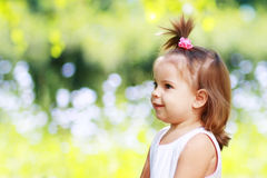 Little girl on the meadow Royalty Free Stock Photo