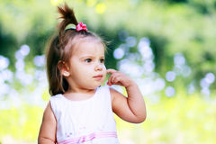 Little girl on the meadow Royalty Free Stock Photography