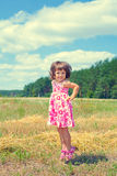 Little girl in the meadow Royalty Free Stock Photo