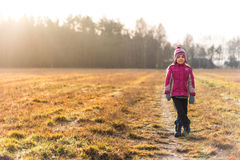 Little girl on a meadow Stock Image