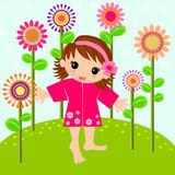 Little girl in the meadow Stock Photography