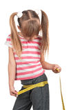 Little girl with measure Royalty Free Stock Photo