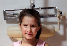 Little girl during a medical examination in hospital surgery Stock Photography