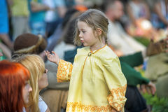 Little girl in medieval dress Royalty Free Stock Photography