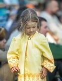 Little girl in medieval dress Stock Image