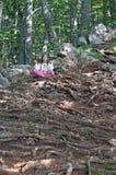 Little girl meditating Royalty Free Stock Images