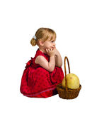 Little girl with melon Royalty Free Stock Photography