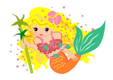 Little girl mermaid Royalty Free Stock Photos