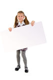 Little Girl With Message Board. Royalty Free Stock Photo
