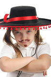 Little girl in a Mexican sombrero Stock Photography