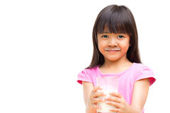 Little girl with a milk mustache Royalty Free Stock Photography