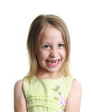Little girl missing her two front teeth Royalty Free Stock Images