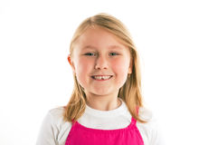 Little girl with missing teeth Stock Photos