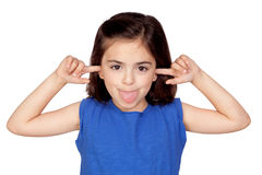 Little girl mocking Royalty Free Stock Image