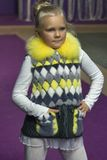 Little girl model at Kyiv Fashion 2014 Royalty Free Stock Images