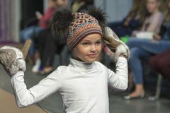 Little girl model at Kyiv Fashion 2014 Stock Image