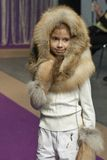 Little girl model at Kyiv Fashion 2014 Stock Photography