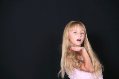 Little girl modeling Royalty Free Stock Image