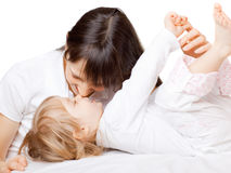 Little girl with mom Royalty Free Stock Images