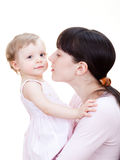 Little girl with mom Royalty Free Stock Photo