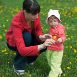 Little girl with mom Royalty Free Stock Photos