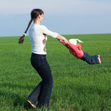 Little girl with mom Stock Photography