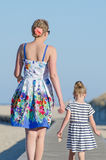 Little girl with mom Royalty Free Stock Photography