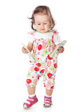 A little girl with money Royalty Free Stock Images
