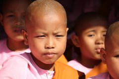 Little Girl Monk Royalty Free Stock Images