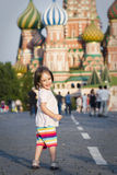 Little girl in Moscow Stock Images