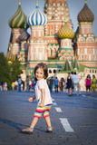 Little girl in Moscow Stock Photos
