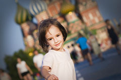 Little girl in Moscow Royalty Free Stock Image