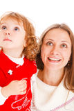 Little girl and mother Royalty Free Stock Image