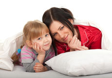 Little girl with mother Royalty Free Stock Photo