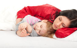 Little girl with mother Royalty Free Stock Photography