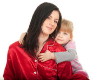 Little girl with mother Stock Photography