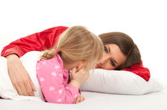 Little girl with mother Stock Image