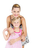 Little girl and mother Royalty Free Stock Photos