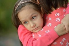 Little  girl with  mother in  park Stock Photography