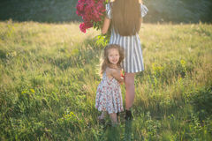 Little girl with mother royalty free stock image