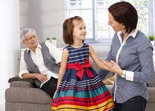 LIttle girl and mother talking Stock Image