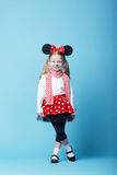 Little girl with mouse mask Royalty Free Stock Images