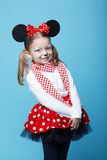 Little girl with mouse mask Stock Photos