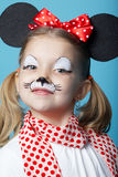 Little girl with mouse mask Royalty Free Stock Photos