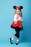 Little girl with mouse mask Royalty Free Stock Image
