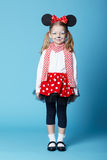 Little girl with mouse mask Royalty Free Stock Photo