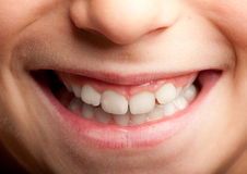 Little girl mouth smiling Stock Images