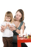 little girl and mum Stock Photography