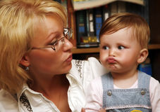 Little girl with mum Royalty Free Stock Photography