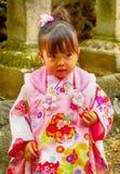 Little girl, Nara, Japan Royalty Free Stock Images